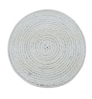 Rattan White  Round Placemat BB2-0014/16