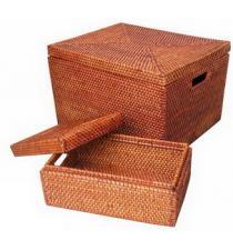 Set 2 Rattan Boxes