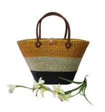 Multi Colored Seagrass Hand-bag