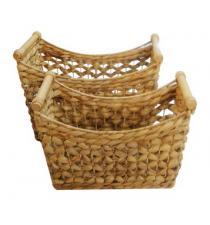 Water Hyacinth Basket set 2
