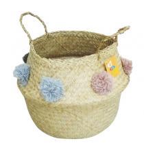 Seagrass Basket BB4-0060/16 Pompoms