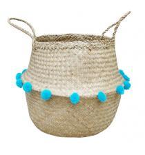 Seagrass Basket BB4-0409/16 w/Pompoms
