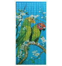 Green couple of Macaw bird bamboo curtain BB33100