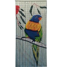 Macaw bird bamboo curtain BB33101
