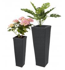 Woven plastic planter BB00003