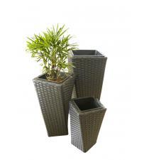 Woven plastic planter BB00005