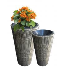 Woven plastic planter BB00009