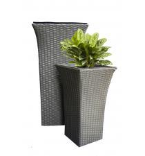 Woven plastic planter BB00011