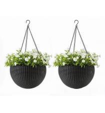 Woven plastic planter BB00013